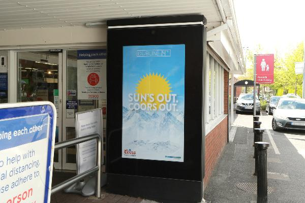 Coors and Kinetic utilise dynamic weather triggers in new OOH campaign