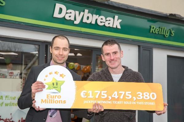 Reilly's Daybreak Naul Sells Record Winning €175 Million Ticket