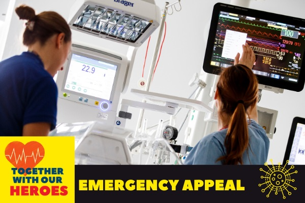 Temple Street and CMRF Crumlin launch 'Together with our Heroes'  Emergency COVID-19 Appeal