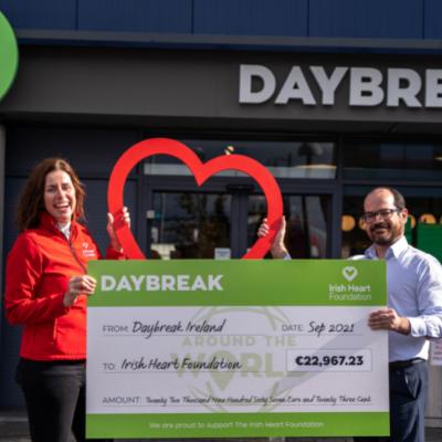 Daybreak went Around the World and raised €22,967.23 for the Irish Heart Foundation