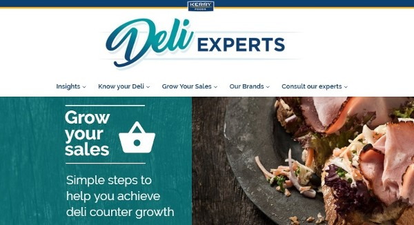 KERRY FOODS TO REVOLUTIONISE DELI COUNTERS WITH THE LAUNCH OF 'DELI EXPERTS' WEBSITE