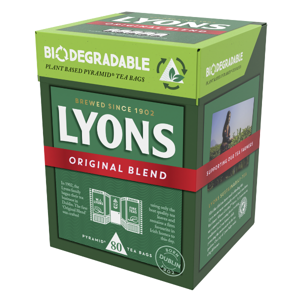 Shoppers call for sustainabili-tea and Lyons Tea answers with new plant based and biodegradable retail tea range
