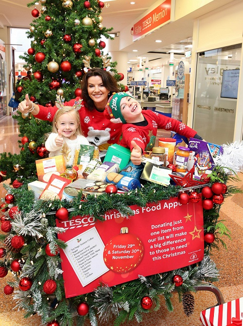 DEIRDRE O'KANE & HER LITTLE HELPERS LAUNCH TESCO IRELAND'S ANNUAL CHRISTMAS FOOD APPEAL IN PARTNERSHIP WITH FOODCLOUD