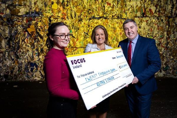 Repak and Panda raise €20,000 for Focus Ireland in Dublin city plastic recycling initiative
