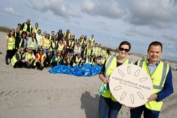 More than 150 Coca-Cola employees take to Ireland's beaches for the Big Beach Clean