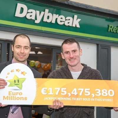 Reilly's Daybreak Naul Sells Record Winning €175 Million Ticket