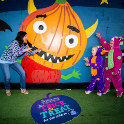 Lucy Kennedy & Mighty Monsters Aoife and Ciara Jane launch 'Trick or Treat for Sick Children' 2021