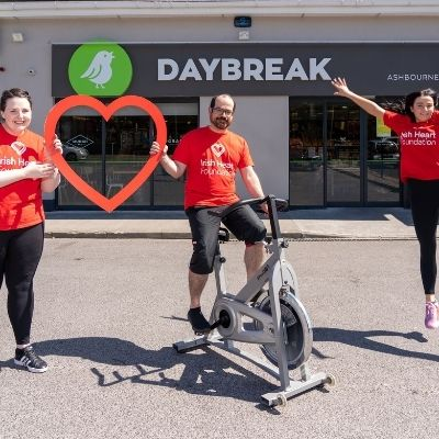 Daybreak is going Around the World and stepping up for the thousands  of individuals living with heart disease and stroke across Ireland
