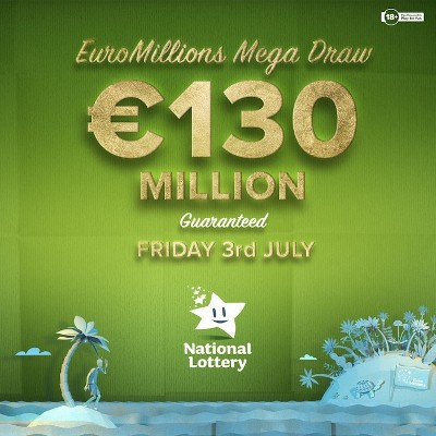 Friday's EuroMillions jackpot is a guaranteed €130 Million!