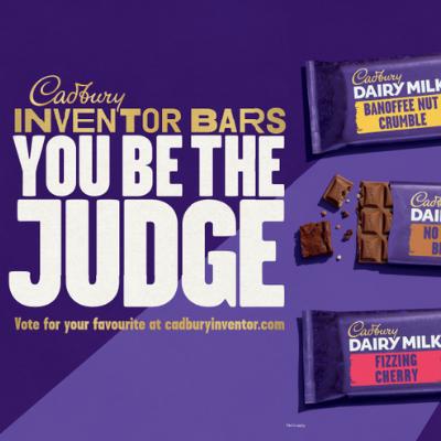 Cadbury calls upon the nation to 'Be the Judge' of the new Cadbury Dairy Milk Inventor Bars