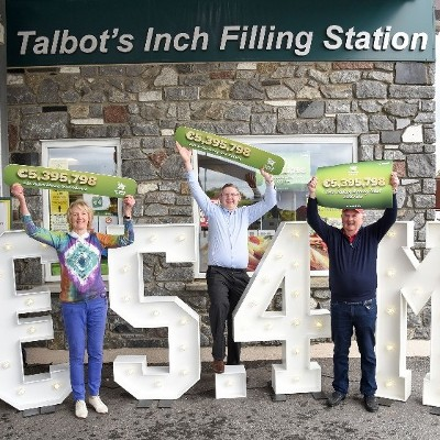 Family run store in Kilkenny city celebrates latest Lotto jackpot win - National Lottery still waiting to hear from Ireland's newest Lotto millionaire