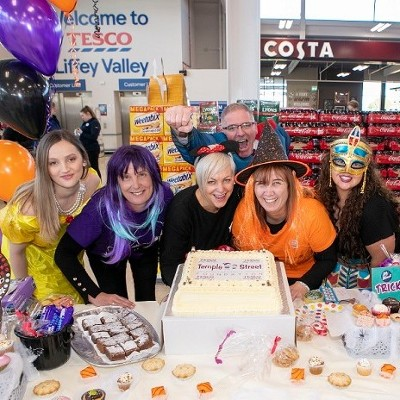 Tesco Ireland Stores Raise A Fangtastic €128,388  as Part Of Trick Or Treat For Temple Street