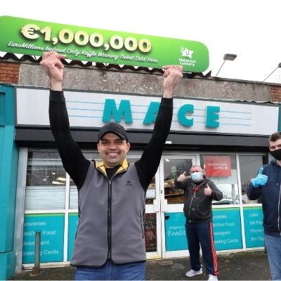 Deansrath store in Dublin celebrates Tuesday's €1 Million EuroMillions 'Ireland Only Raffle' win as part of a Fortnight of Fortunes