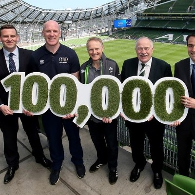 Paul O'Connell 'lines out' to celebrate over 100,000 kids taking part in Aldi Play Rugby