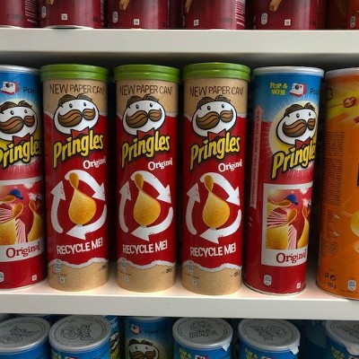 Pop, play, eat, recycle: Pringles reveals new paper can