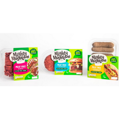 The Mighty Mushroom Co introduces new meat-free range made with up to 85% mushrooms
