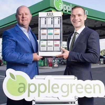JUUL to be sold in Applegreen stores as a switching option for Ireland's 830,000 adult smokers