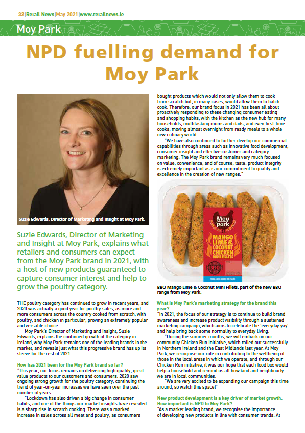 NPD fuelling demand for Moy Park