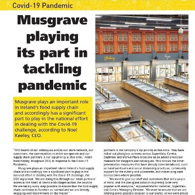Covid-19 Special: Musgrave Plays Its Part in Tackling Pandemic