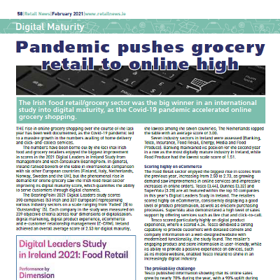 Digital Maturity - Pandemic pushes grocery retail to record high