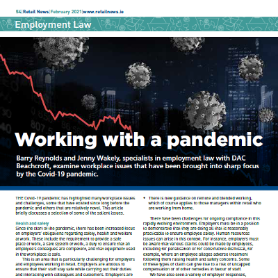 Employment Law: Working with a pandemic