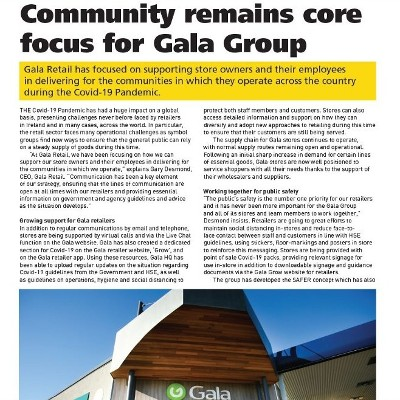 Community Remains Core Focus for Gala Group