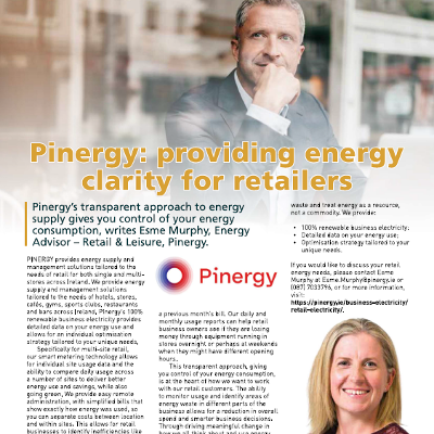 Pinergy: providing energy clarity for retailers