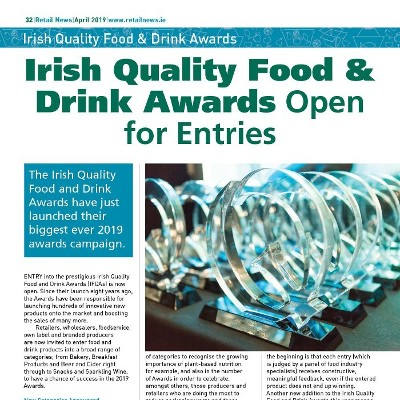 Irish Quality Food & Drink Awards Open for Entries