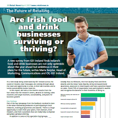 Are Irish food and drink businesses surviving or thriving? GS1 investigates