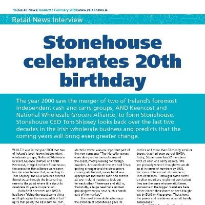 Retail News Interview: Stonehouse CEO Tom Shipsey