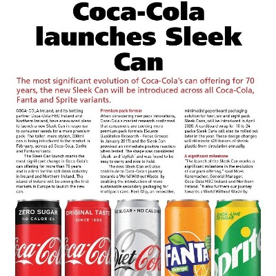 Coca-Cola Launches Sleek Can