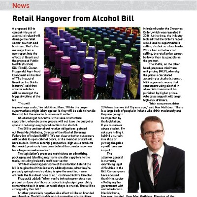 Retail Hangover from Alcohol Bill
