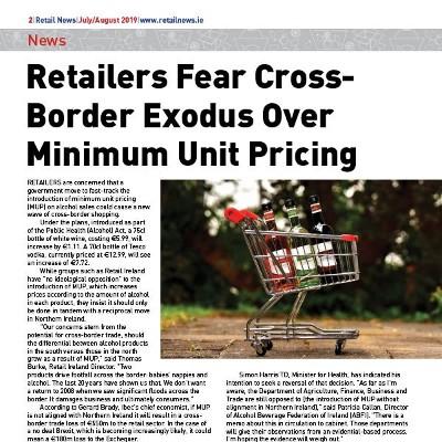 Retailers Fear Cross-Border Exodus Over Minimum Unit Pricing
