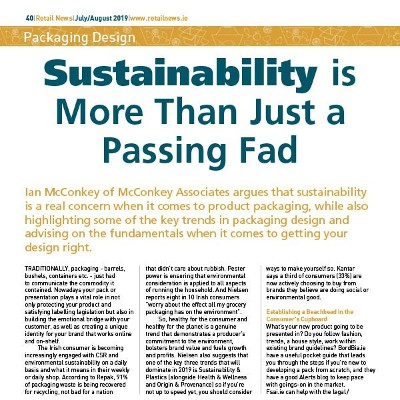 Packaging Design - Sustainability is More Than Just a Passing Fad
