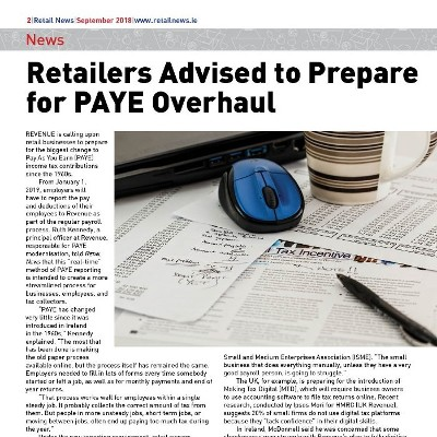 Retailers Advised to Prepare for PAYE Overhaul