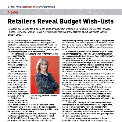 Retailers Reveal Budget Wish-lists