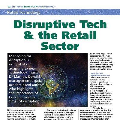 Disruptive Tech & the Retail Sector