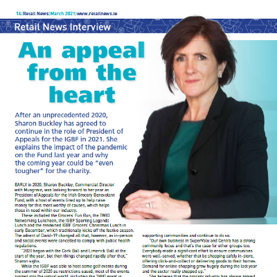 The Retail News Interview: An appeal from the heart with Sharon Buckley, IGBF
