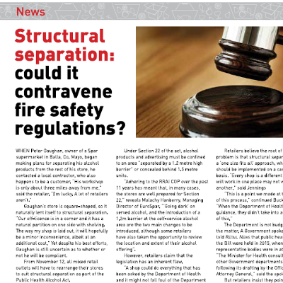 Structural separation - could it contravene fire safety regulations?