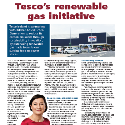 Sustainability Special: Tesco's Renewable Gas Initiative