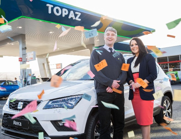 Topaz takes to the driving seat to raise funds for the Jack & Jill Children's Foundation