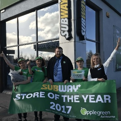Ashbourne scoops top award for Subway® Store of the Year