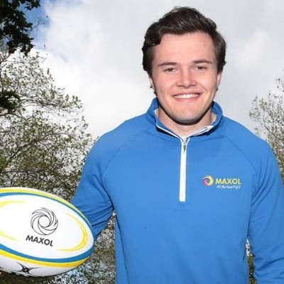 Jacob Stockdale lines out for Maxol's Christmas campaign for AWARE