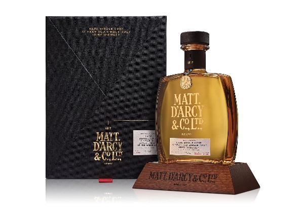 Best Irish Whiskey award for Matt D'Arcy 17-yr-old single malt at San Francisco World Spirits Competition