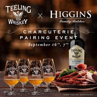 Limited tickets still on sale for Teeling Whiskey X Higgins Butchers charcuterie event